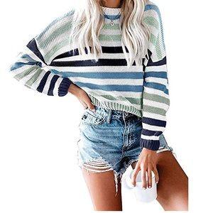 Brand New Kirundo Multicolor Blue Striped Sweater